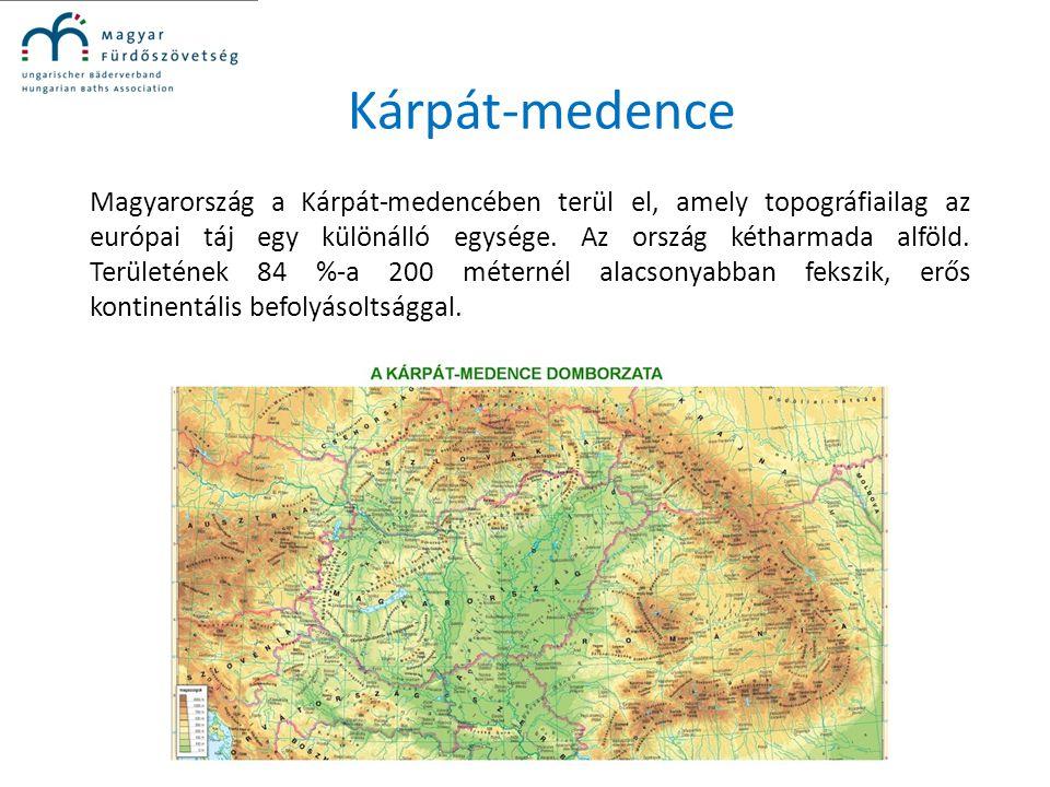 Kárpát-medence Magyarország a Kárpát-medencében terül el, amely topográfiailag az európai táj egy különálló egysége. Az ország kétharmada alföld. Terü