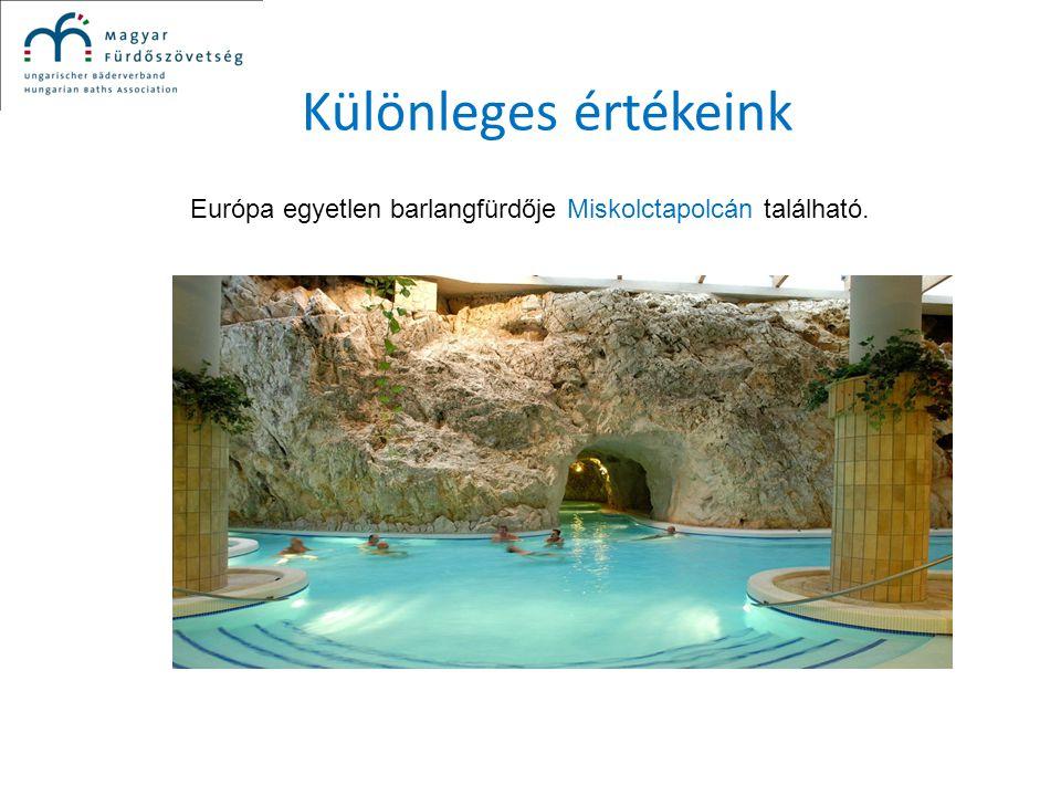 Különleges értékeink Európa egyetlen barlangfürdője Miskolctapolcán található.