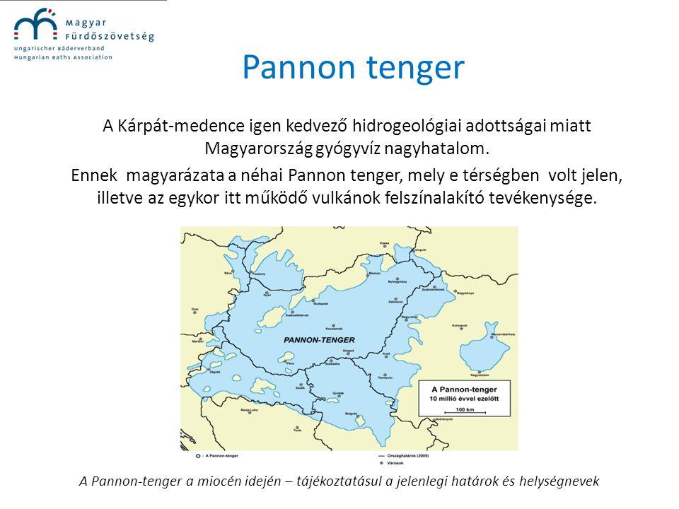 Pannon tenger A Kárpát-medence igen kedvező hidrogeológiai adottságai miatt Magyarország gyógyvíz nagyhatalom. Ennek magyarázata a néhai Pannon tenger