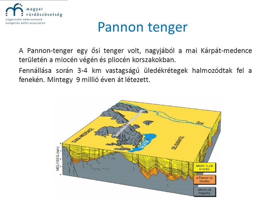 Pannon tenger A Pannon-tenger egy ősi tenger volt, nagyjából a mai Kárpát-medence területén a miocén végén és pliocén korszakokban. Fennállása során 3