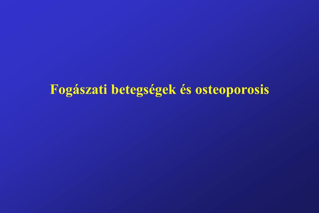 Intraorális csontvesztés 1 Okai:- helyi eltérés (I) - szisztémás betegség (II) I, lokális csontvesztés okai: 1: bakteriális plakk, mely periodontális károsodást okoz 2: a pulpa infekciója és necrosisa (pl: caries) 1, periodontális betegségek: A: periodontitis (gyökérhártyagyulladás), mely csontresorptiót és lágyrészdestrukciót is okoz B: gingivitis: nincs csontvesztés, csak a gingiva gyulladt