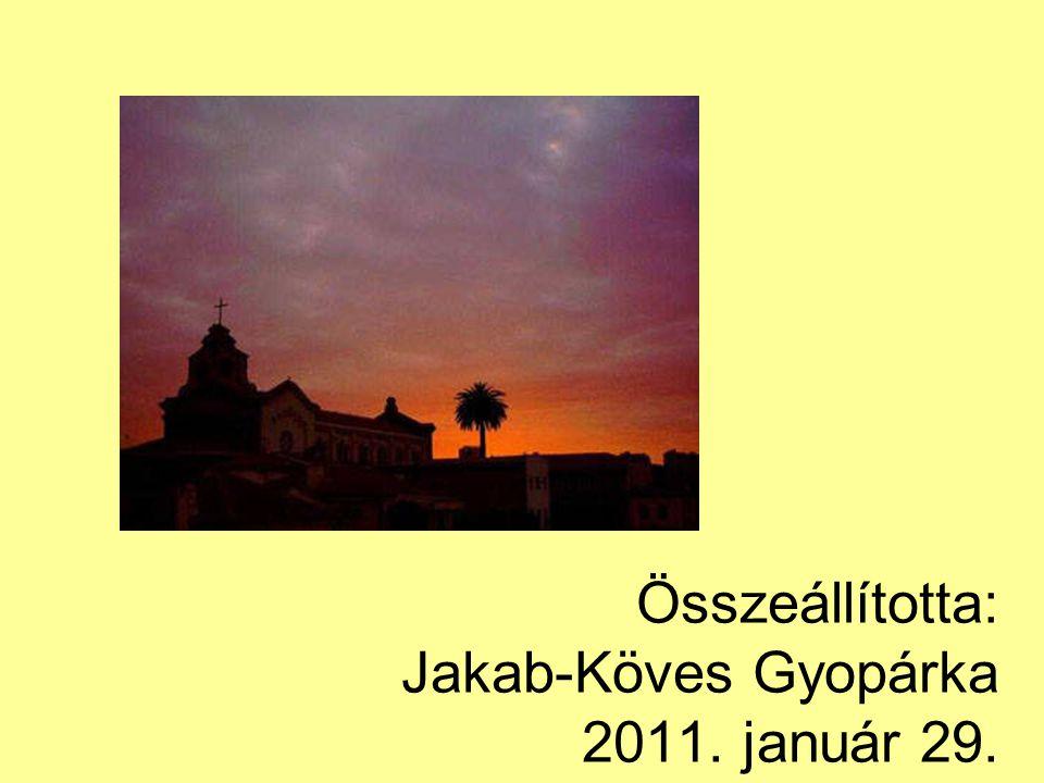 Összeállította: Jakab-Köves Gyopárka 2011. január 29.