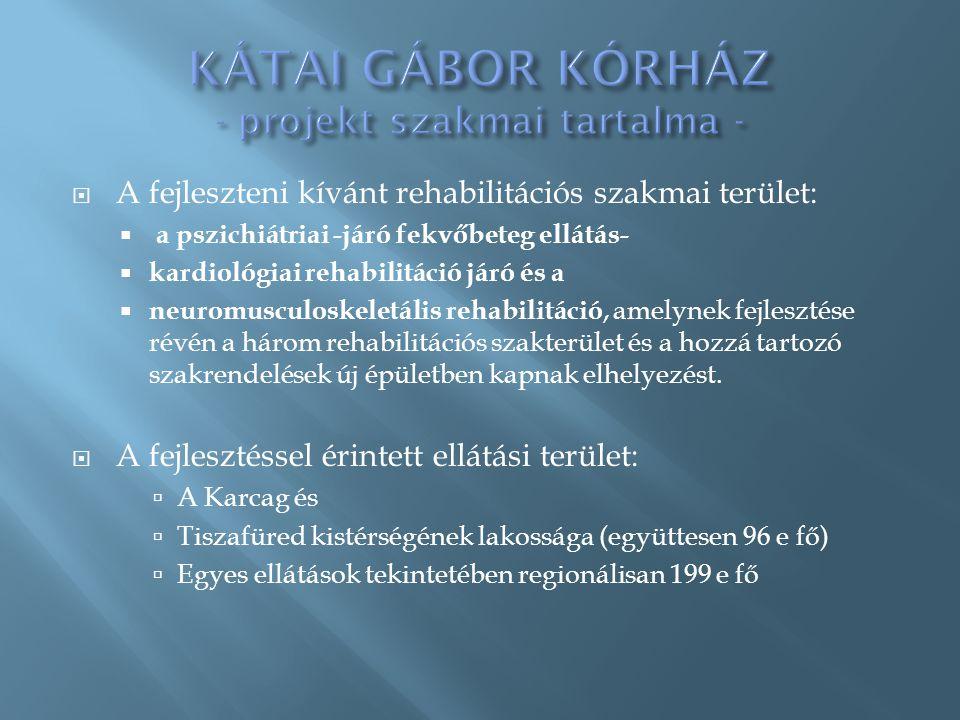 A fejleszteni kívánt rehabilitációs szakmai terület:  a pszichiátriai -járó fekvőbeteg ellátás-  kardiológiai rehabilitáció járó és a  neuromuscu