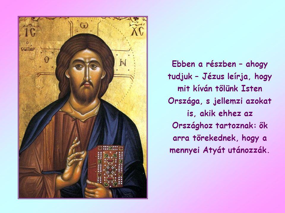 Ez Jézus egyik mély értelmű kijelentése, melyet a Máté evangéliumban leírt hegyi beszédhez lehetne hasonlítani.
