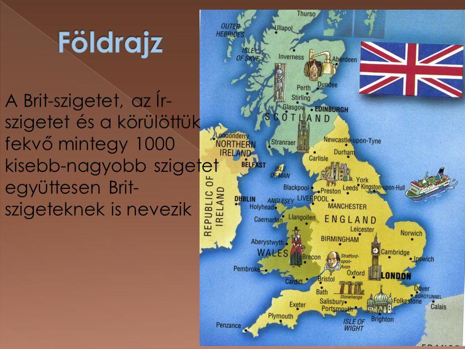  A Brit-szigeten a kőzetek ÉNY-DK-i irányban fiatalodnak: Skócia északnyugati részén ősmasszívum bukkan a felszínre.