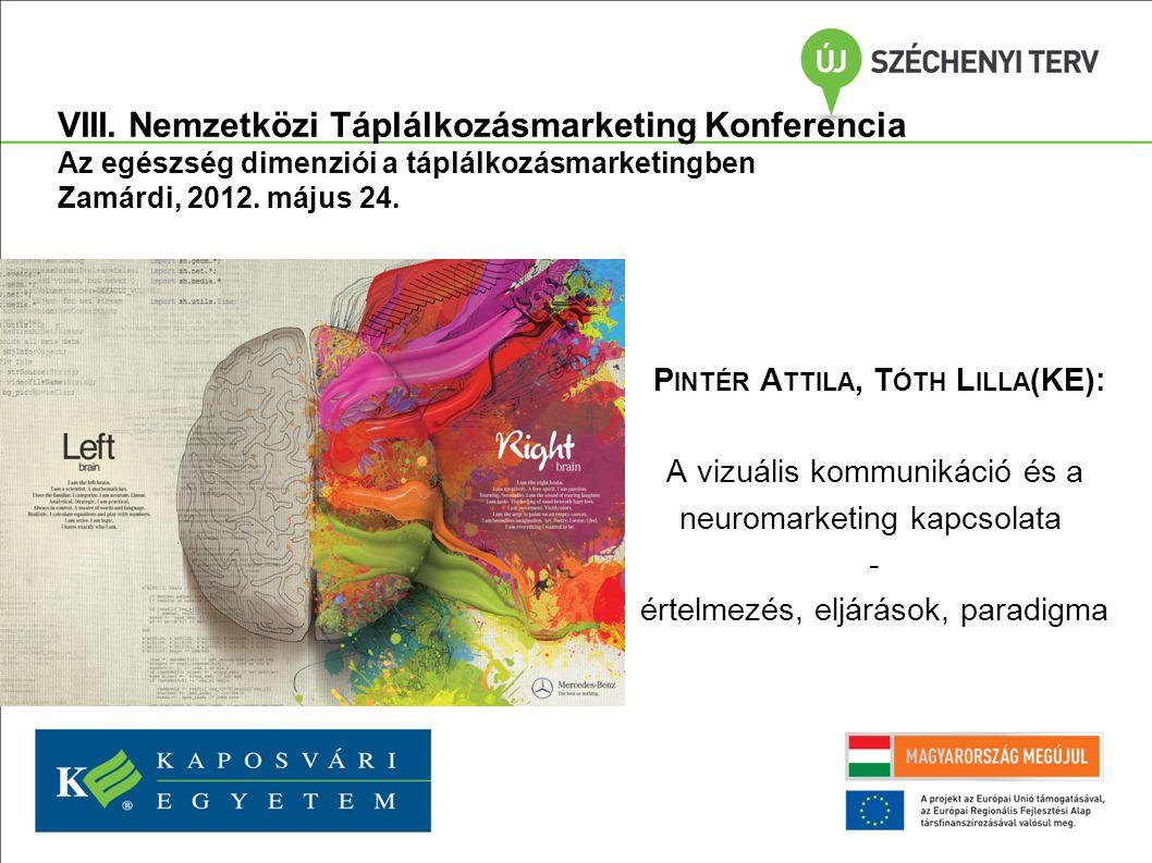 P INTÉR A TTILA, T ÓTH L ILLA (KE): A vizuális kommunikáció és a neuromarketing kapcsolata - értelmezés, eljárások, paradigma 3.