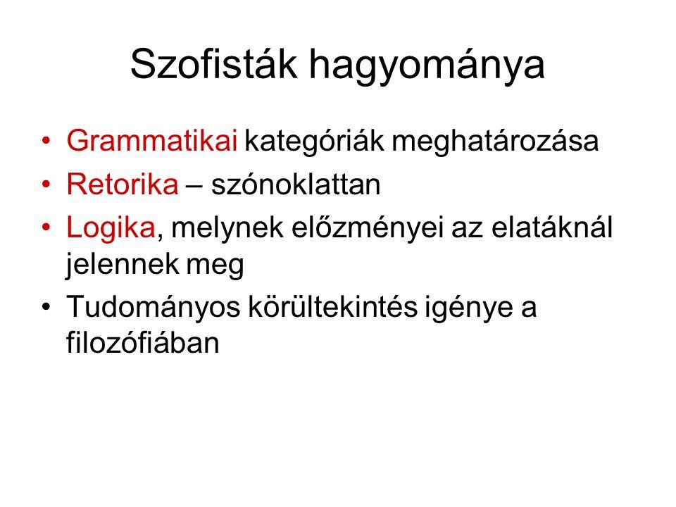 Híres szophisták Arkhelaosz Antiphón Gorgiász (K.e.
