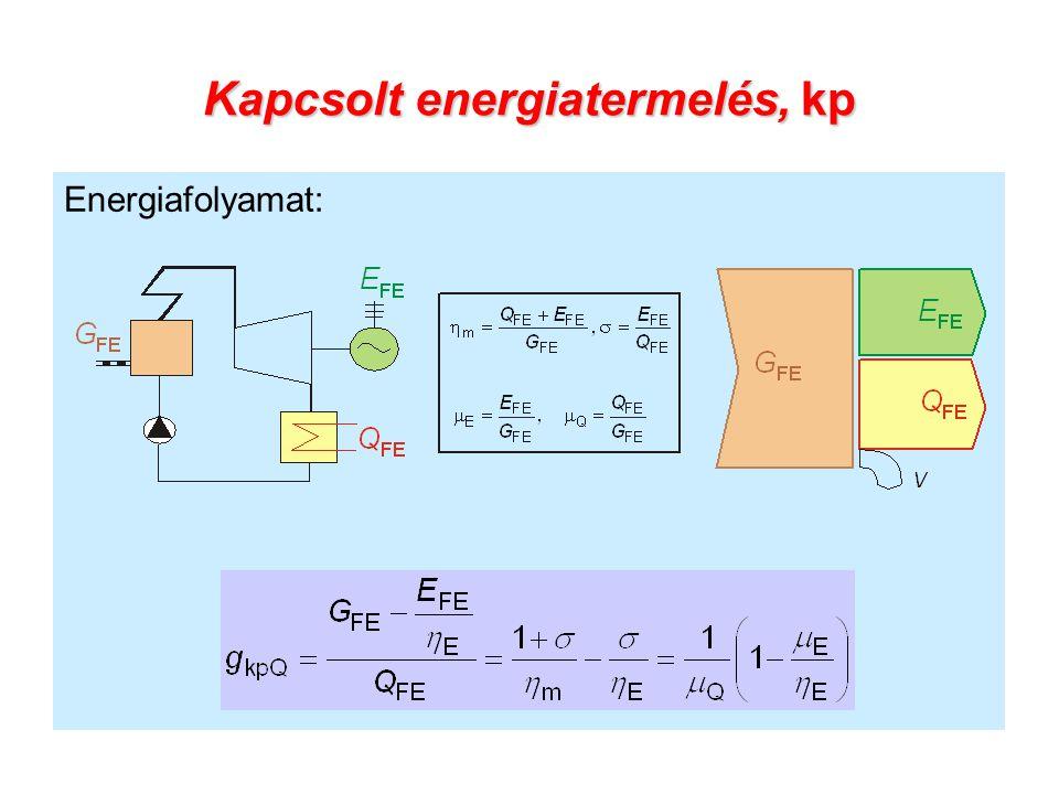 Kapcsolt energiatermelés, kp Energiafolyamat: