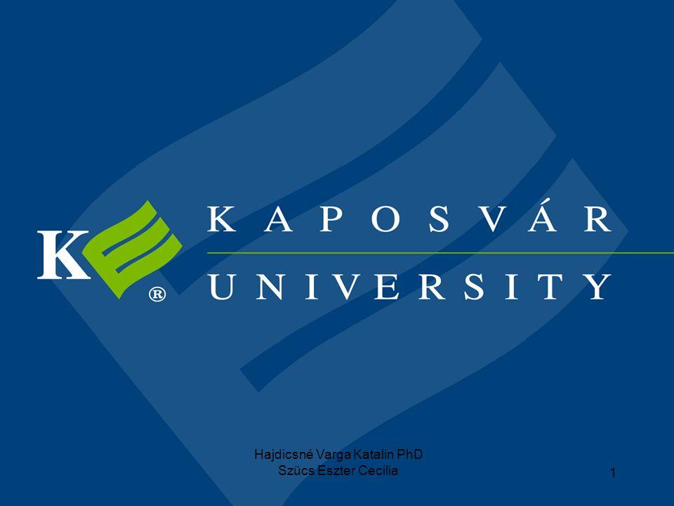Hajdicsné Varga Katalin PhD Szücs Eszter Cecilia 12