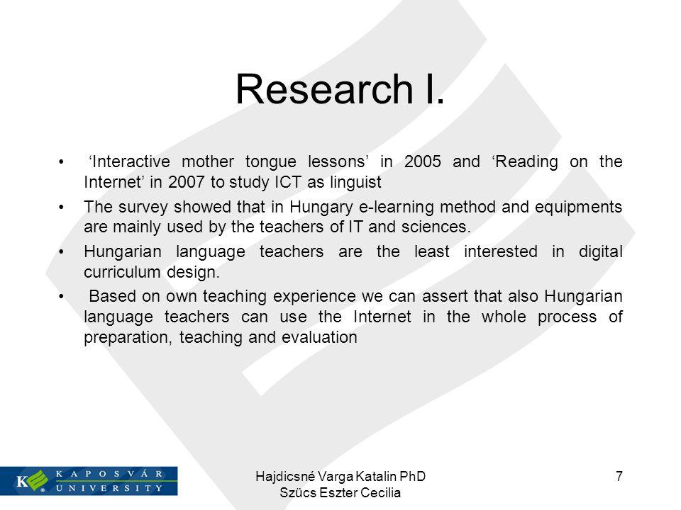 References BESSENYEI, L., TÓTH Zs.(2008): E-learning: a NETIS projektben szerzett tapasztalatok.