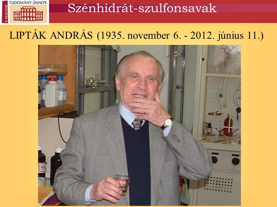 LIPTÁK ANDRÁS (1935. november 6. - 2012. június 11.) Szénhidrát-szulfonsavak