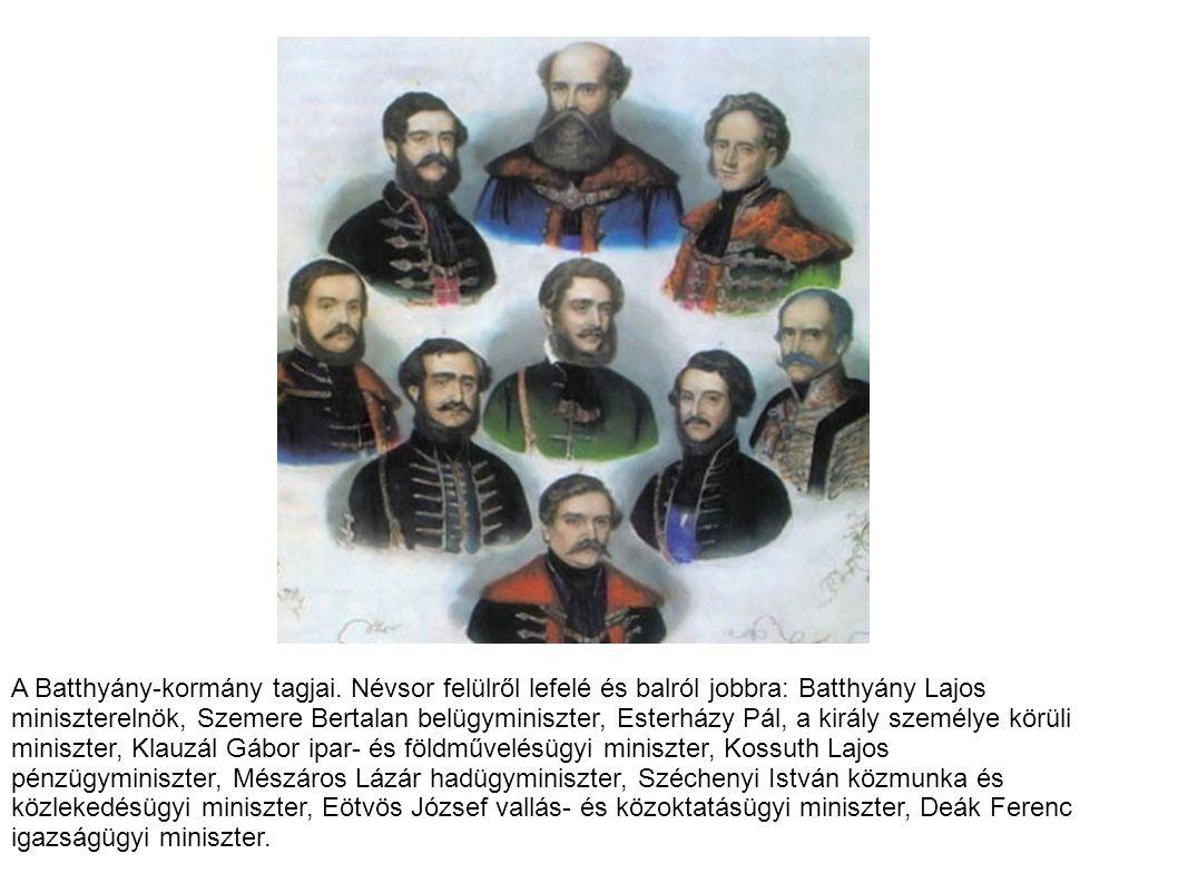 A Batthyány-kormány tagjai.