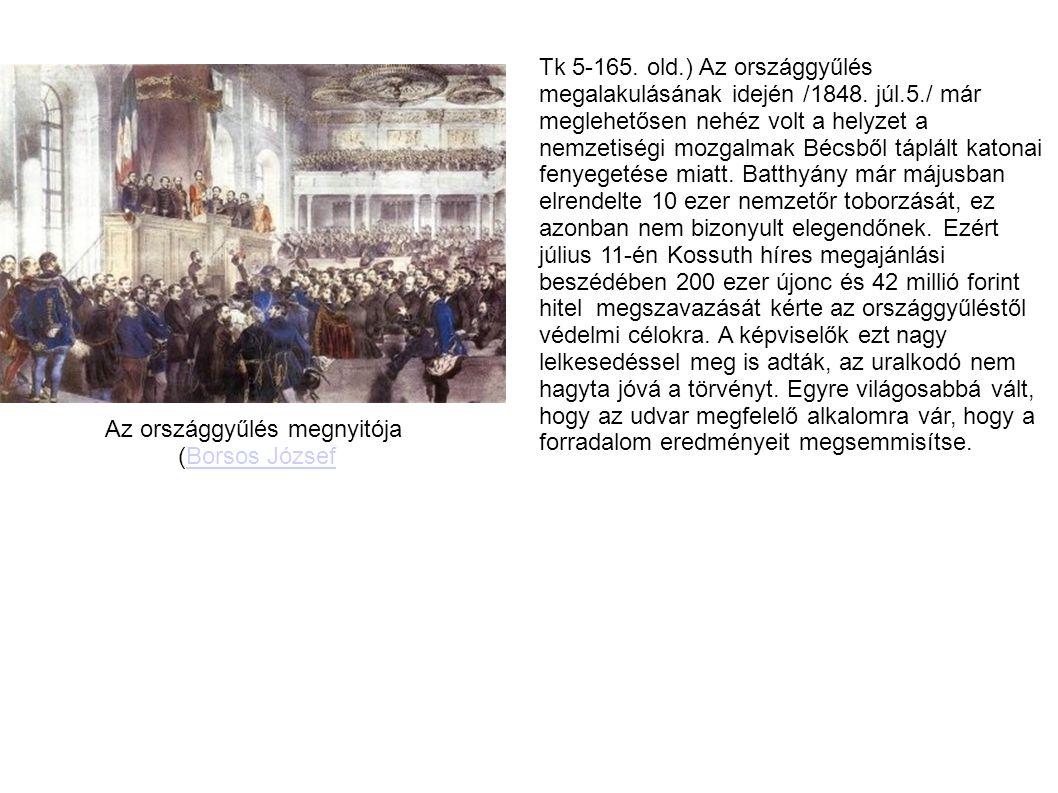 Tk 5-165.old.) Az országgyűlés megalakulásának idején /1848.