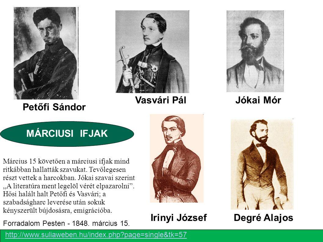 Irinyi József A 12 pont jóval túlment az felirati javaslaton, de megmaradt a nemesi reformerek számára elfogadható program keretein belül.