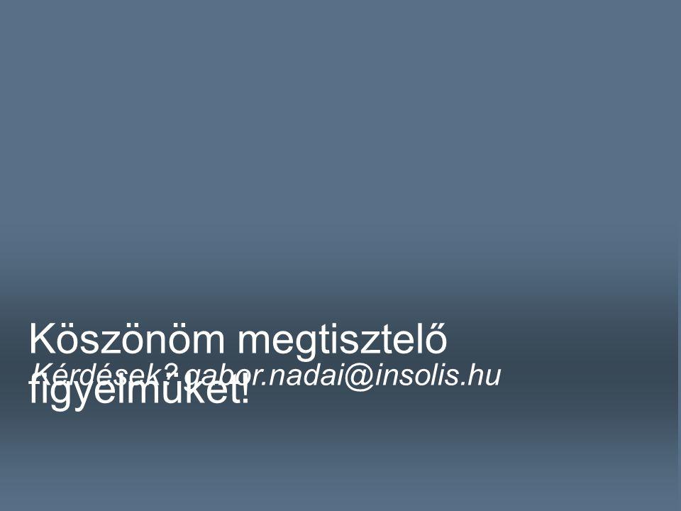 NÁDAI GÁBOR \t Köszönöm megtisztelő figyelmüket! Kérdések? gabor.nadai@insolis.hu