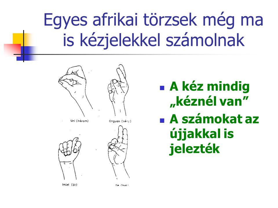 """Egyes afrikai törzsek még ma is kézjelekkel számolnak A kéz mindig """"kéznél van A számokat az újjakkal is jelezték"""