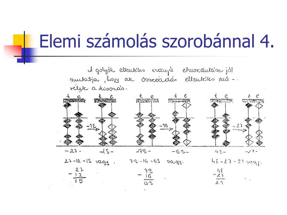 Elemi számolás szorobánnal 4.