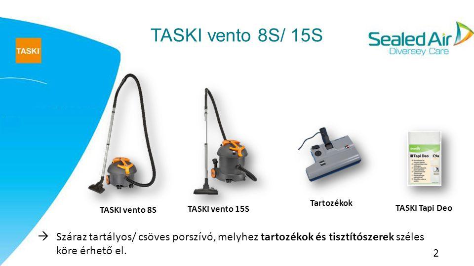 Termékjellemzők: A TASKI vento 8S/15S egy hatékony, egyszerű és kényelmes módja a porszívózásnak.