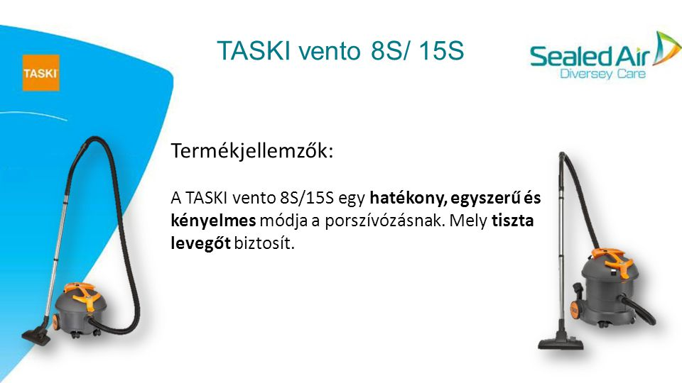 ECO jóváhagyások TASKI vento 8S/15S