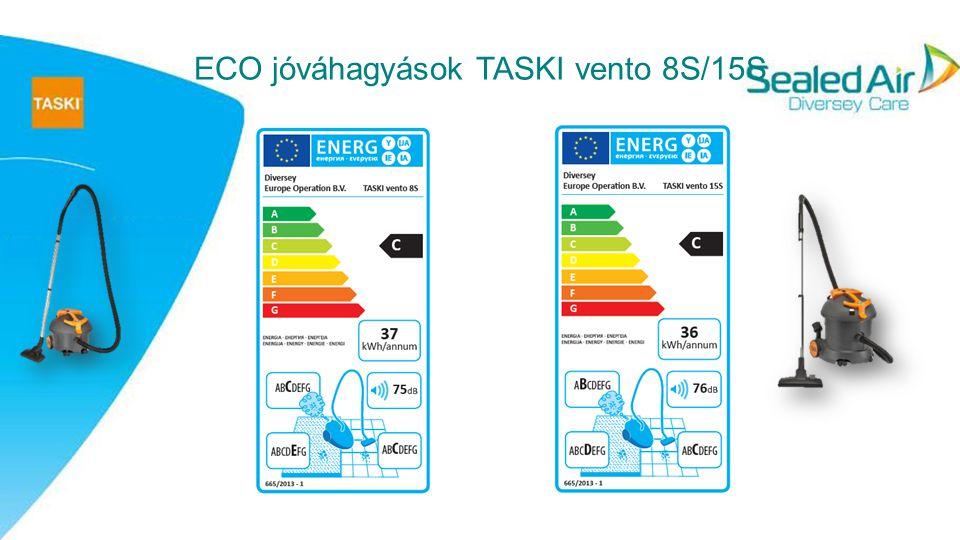 5 TASKI vento 8S/ 15S S TASKI vento 8 és 15S gépek olyan száraz tartályos/ csöves porszívók, melyek előnyei: Hatékony működés Tisztább levegő Egyszerű és kényelmes működtetés