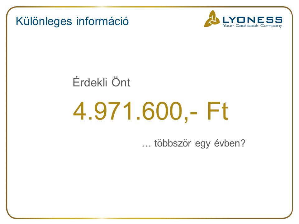 Különleges információ 4.971.600,- Ft Érdekli Önt … többször egy évben?