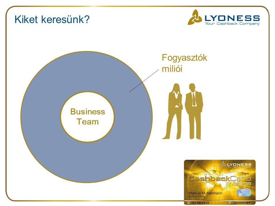 Kiket keresünk? Fogyasztók miliói Business Team