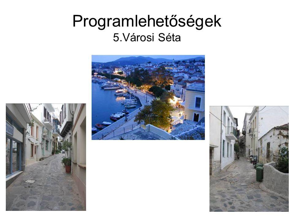 Programlehetőségek 5.Városi Séta