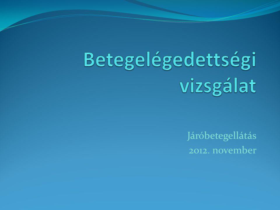Járóbetegellátás 2012. november
