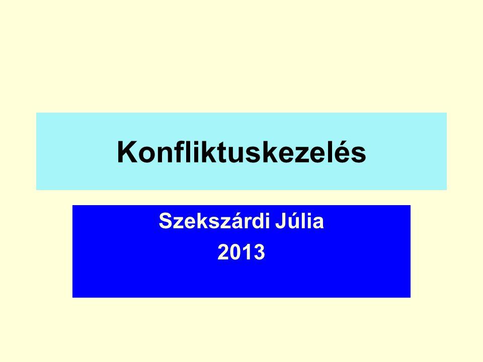 Konfliktuskezelés Szekszárdi Júlia 2013