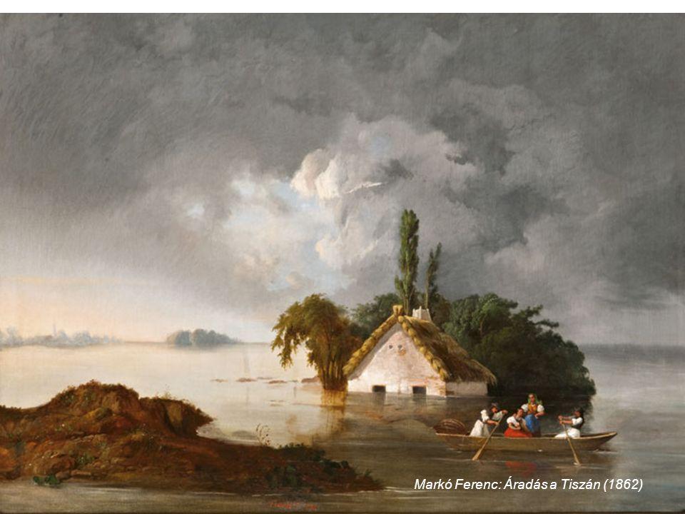 Markó Ferenc: Áradás a Tiszán (1862)