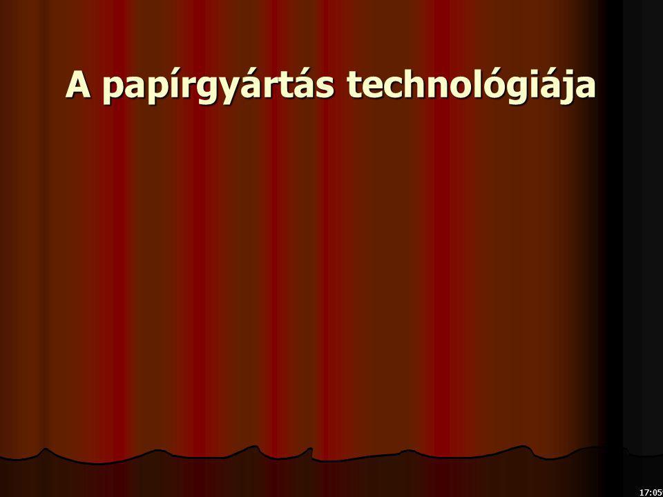 17:079:16 A papírgyártás technológiája