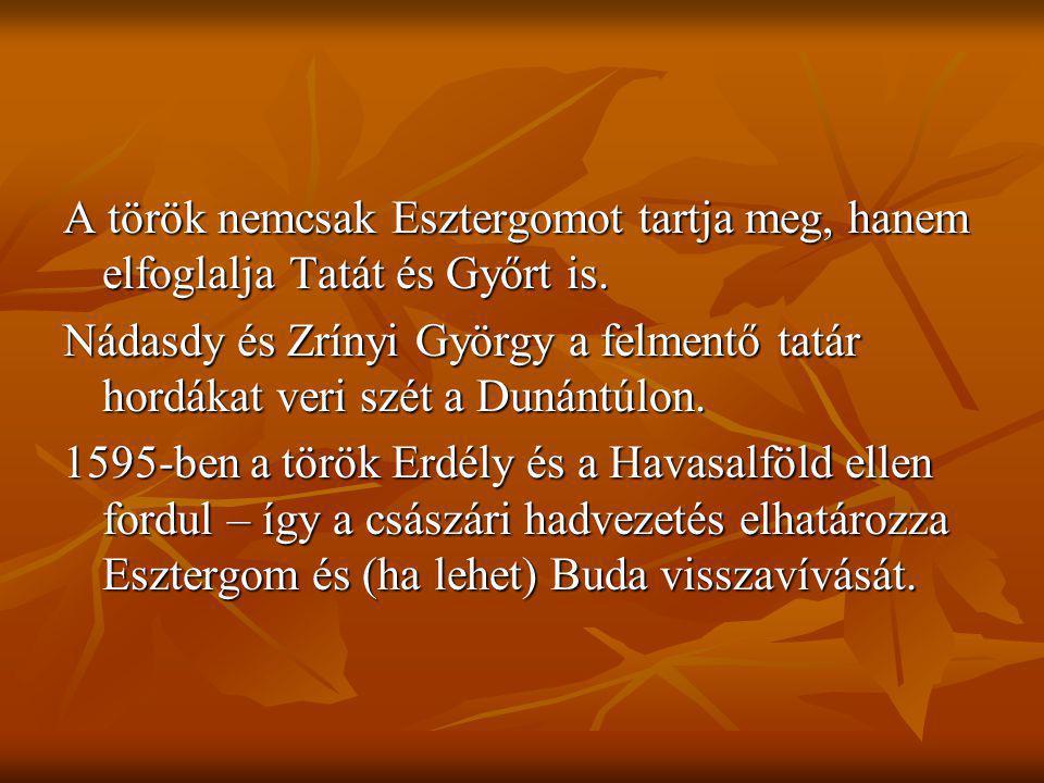 A török nemcsak Esztergomot tartja meg, hanem elfoglalja Tatát és Győrt is. Nádasdy és Zrínyi György a felmentő tatár hordákat veri szét a Dunántúlon.