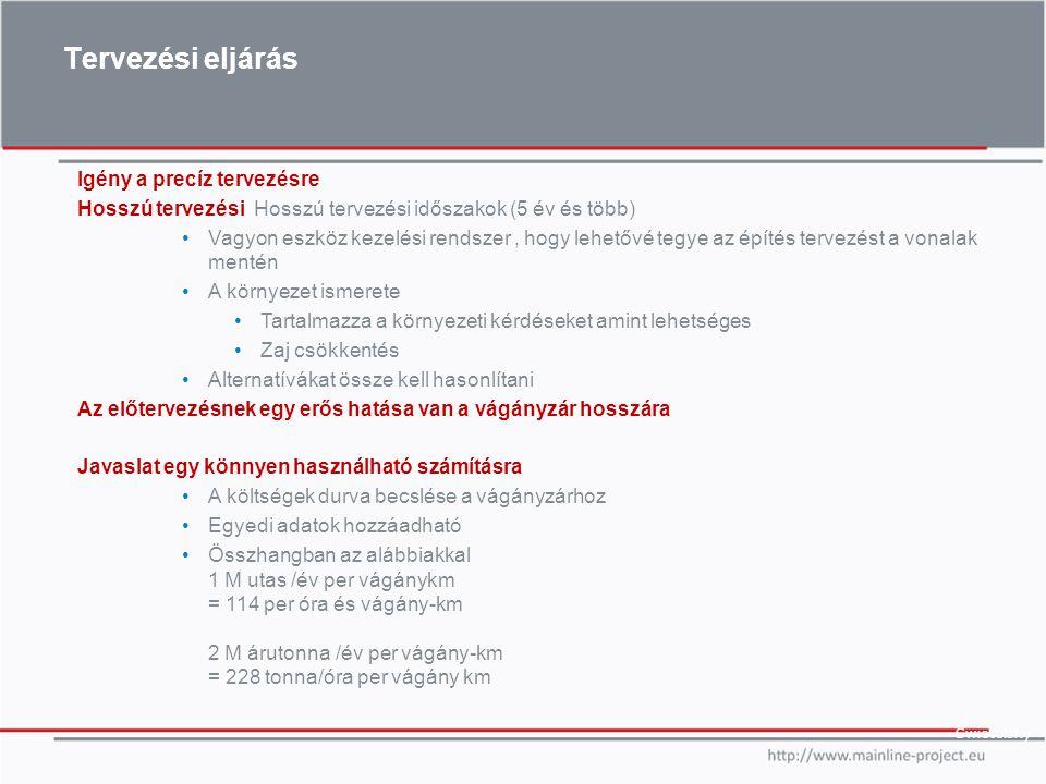 Tervezési eljárás Swietelsky Igény a precíz tervezésre Hosszú tervezési Hosszú tervezési időszakok (5 év és több) Vagyon eszköz kezelési rendszer, hog