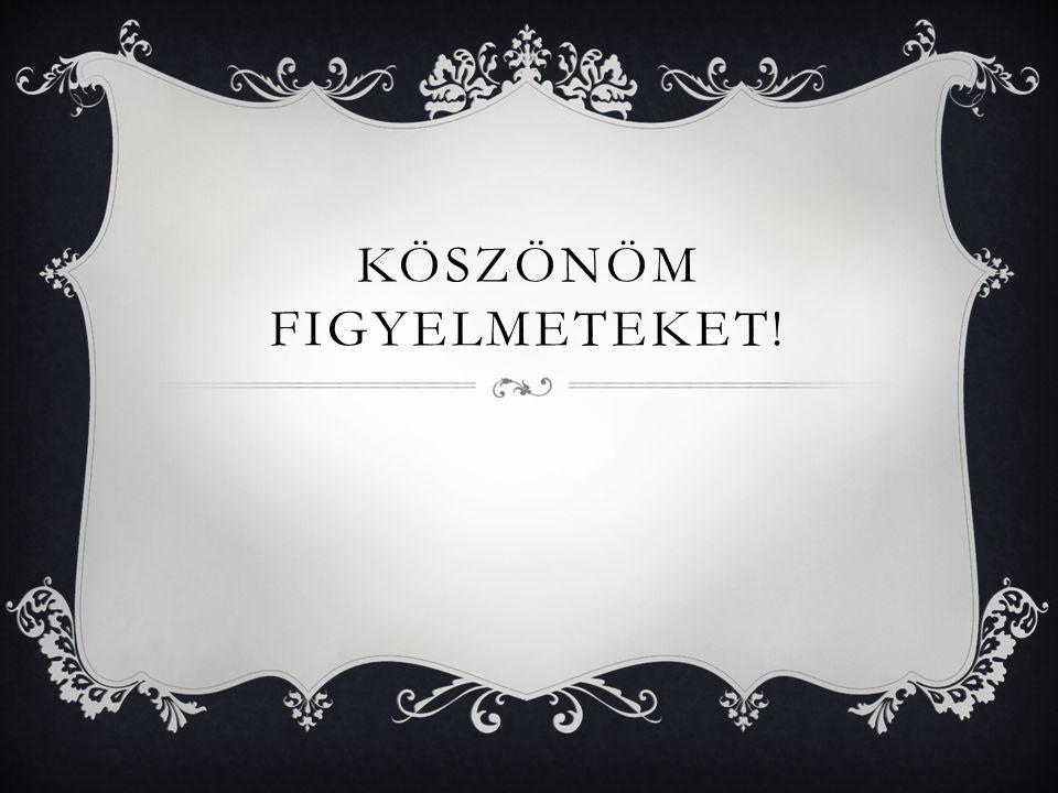 KÖSZÖNÖM FIGYELMETEKET!