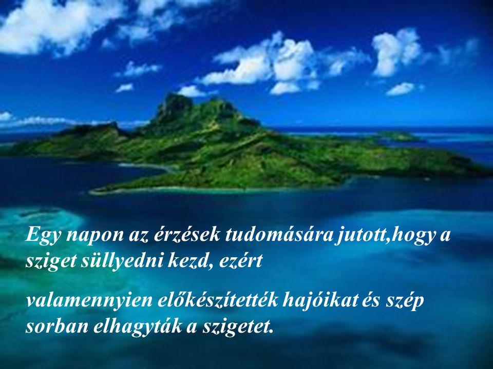 Volt egyszer egy sziget,ahol emberi érzések éltek: a Vidámság, a Bánat, a Tudás és még sok más, így a Szeretet is.