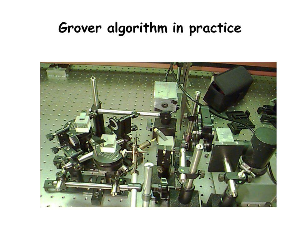 Grover algorithm in practice