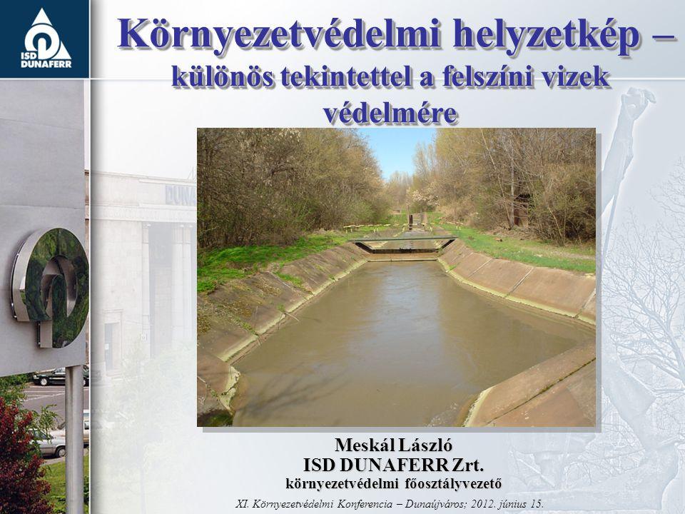 Környezetvédelmi helyzetkép – különös tekintettel a felszíni vizek védelmére Környezetvédelmi helyzetkép – különös tekintettel a felszíni vizek védelmére XI.