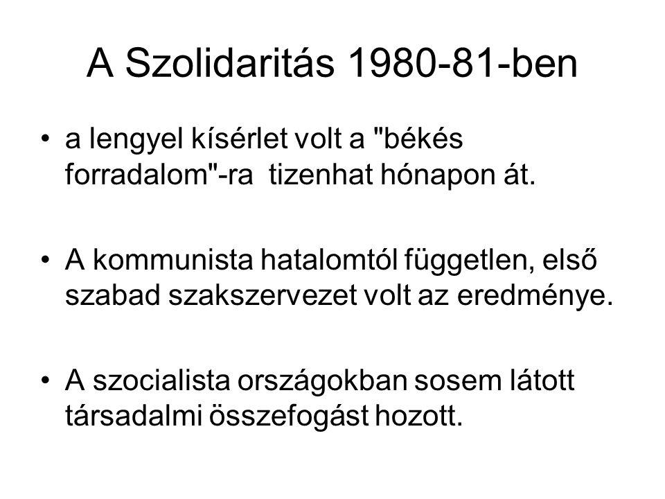 A Szolidaritás 1980-81-ben a lengyel kísérlet volt a