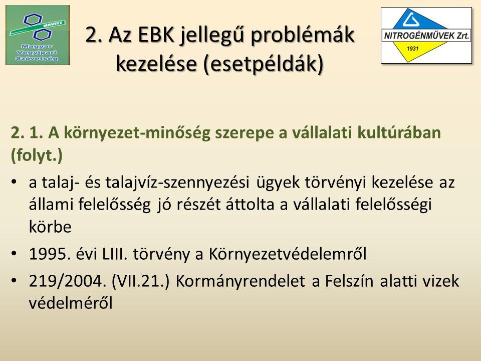 2. Az EBK jellegű problémák kezelése (esetpéldák) 2.