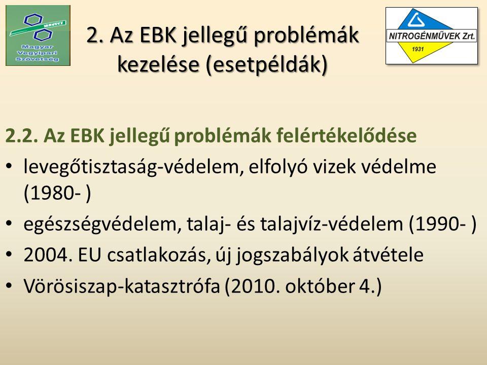 2. Az EBK jellegű problémák kezelése (esetpéldák) 2.2.