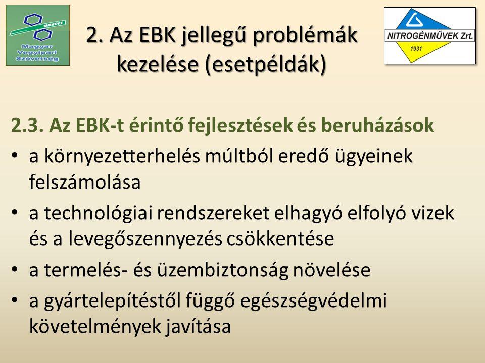2. Az EBK jellegű problémák kezelése (esetpéldák) 2.3.