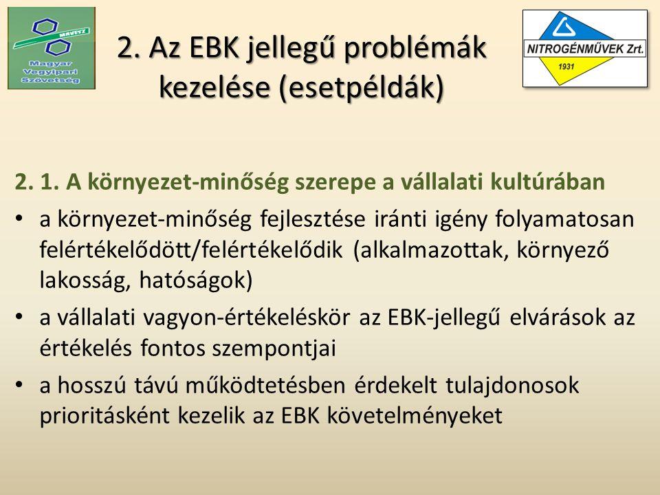 2.Az EBK jellegű problémák kezelése (esetpéldák) 2.