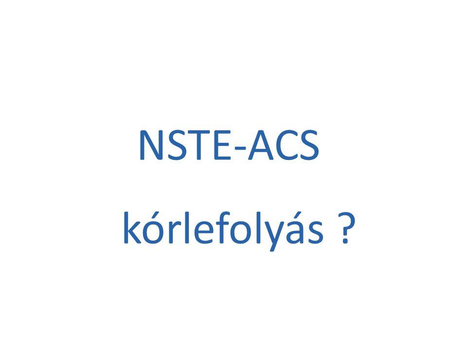 NSTE-ACS kórlefolyás ?