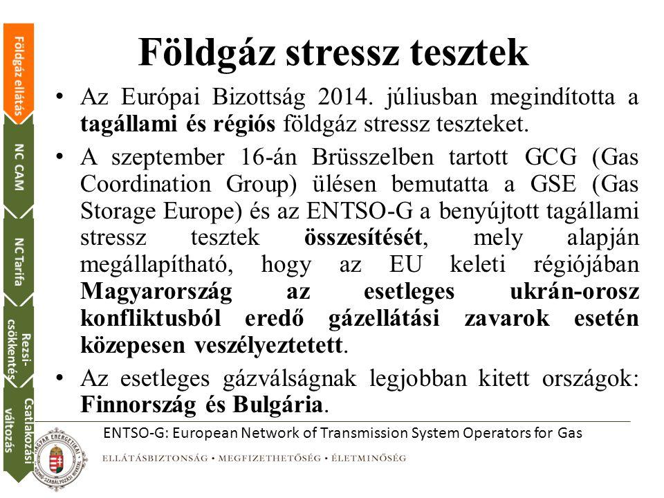 Földgáz stressz tesztek Az Európai Bizottság 2014.