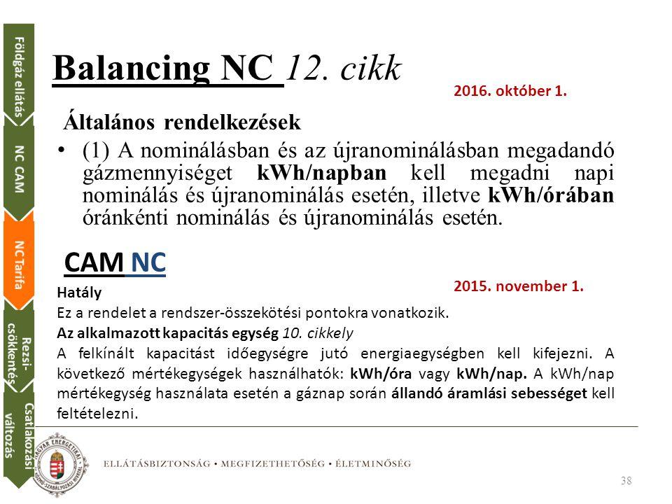 Balancing NC 12.