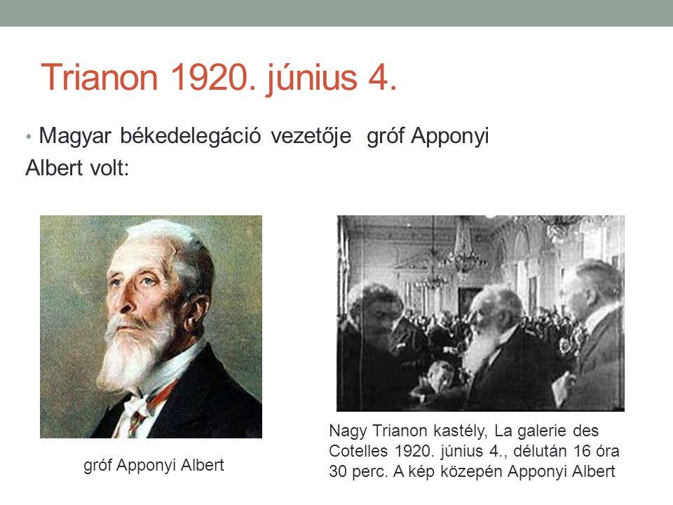 Trianon 1920.június 4.