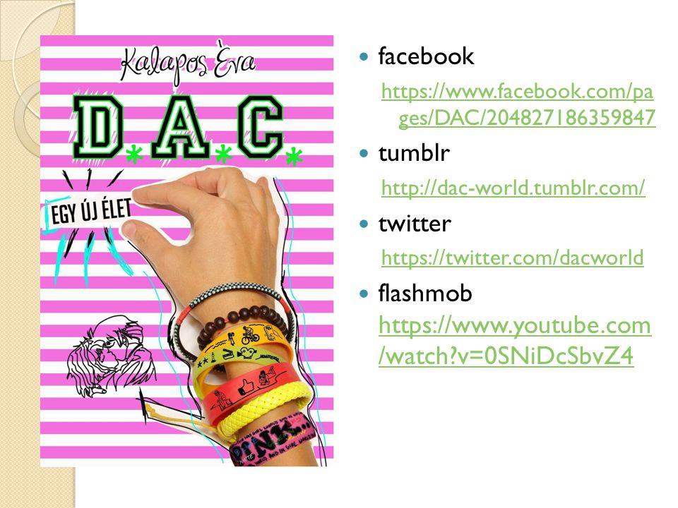 facebook https://www.facebook.com/pa ges/DAC/204827186359847 tumblr http://dac-world.tumblr.com/ twitter https://twitter.com/dacworld flashmob https:/