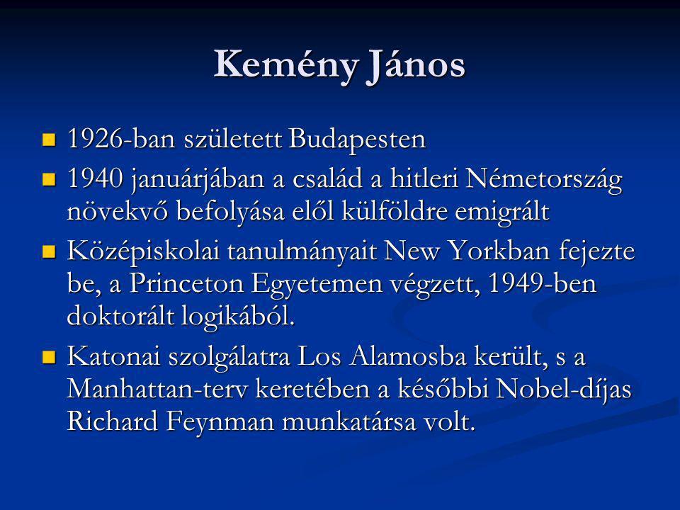 Kemény János 1926-ban született Budapesten 1926-ban született Budapesten 1940 januárjában a család a hitleri Németország növekvő befolyása elől külföl