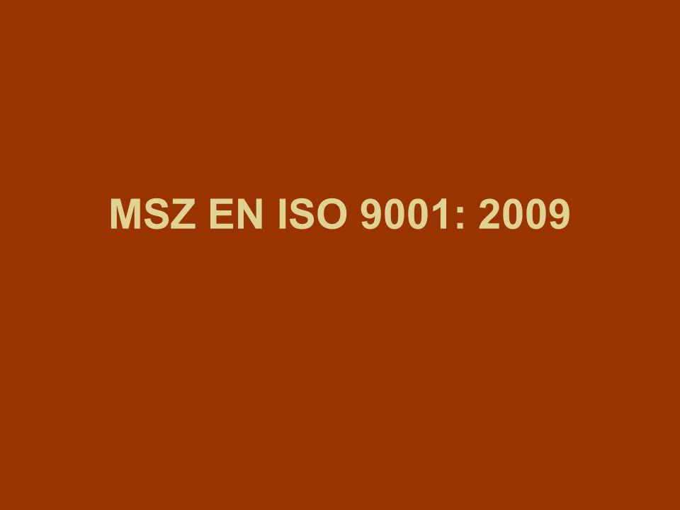 MSZ EN ISO 9001: 2009