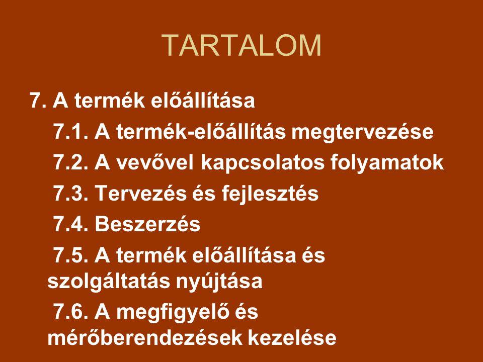 7.A TERMÉK MEGVALÓSÍTÁSA 7.3.